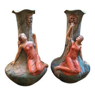 Gustave Van Vaerenbergh Vases- A Pair