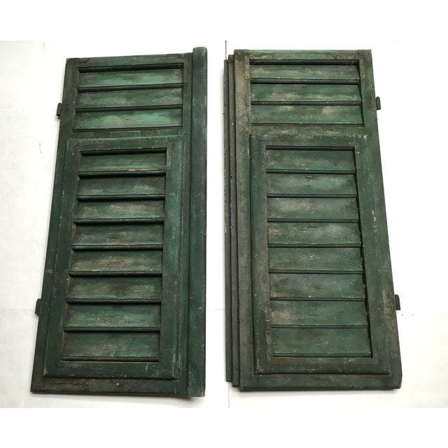 Vintage French Louvered Shutters - A Pair - Image 2 of 9