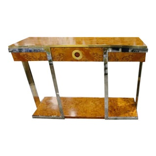 Pierre Cardin Burlwood Console Table
