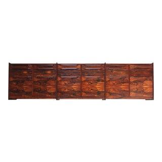 Monumental Scandinavian Modern Rosewood Floating Credenza