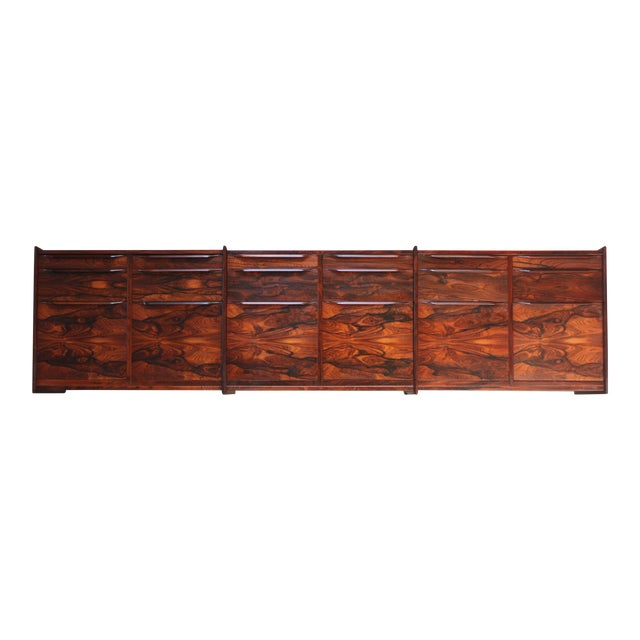 Monumental Scandinavian Modern Rosewood Floating Credenza - Image 1 of 11