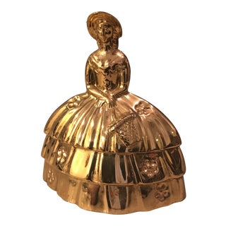 Southern Lady Brass Dinner Bell