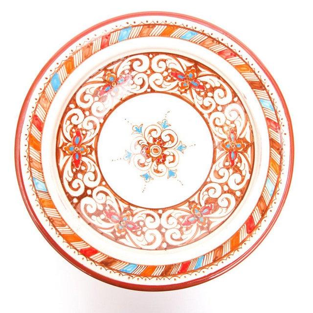 Moroccan Handpainted Brown Ceramic Plate - Image 2 of 4