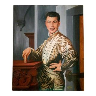 Hal Mattefs Portrait Oil Painting
