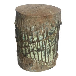 Old Handmade Drum with Actual Hide