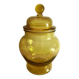 Mid-Century Amber Apothecary Jar
