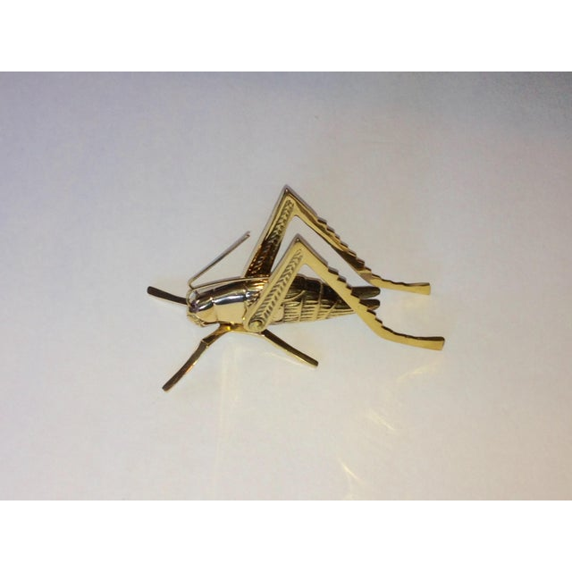 Image of Vintage Brass Articulated Cricket