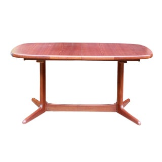 Vintage Danish Modern Teak Racetrack Dining Table