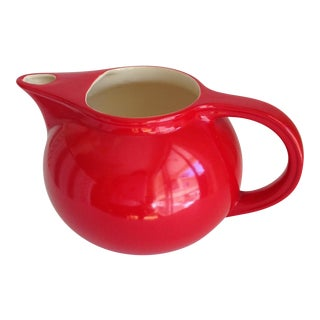 Vintage Red Ceramic Pitcher