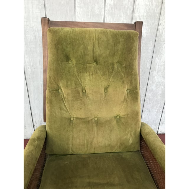 Mid-Century Cane Reclining Chair - Image 6 of 6