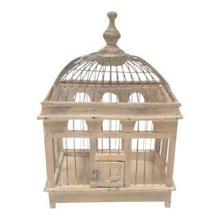 Victorian Style Decorative Wooden Bird Cage
