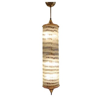 Long Handblown Glass Pendant by Venini