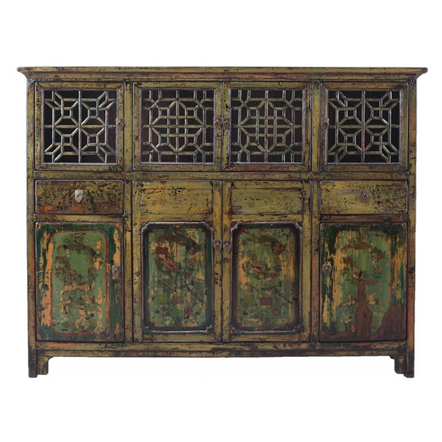 Image of Vintage Chinese DongBei Kitchen Curio Cabinet