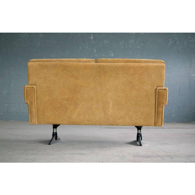 Svend Skipper Attributed Airport-Style Suede Two-Seat Sofa or Settee - Image 6 of 7