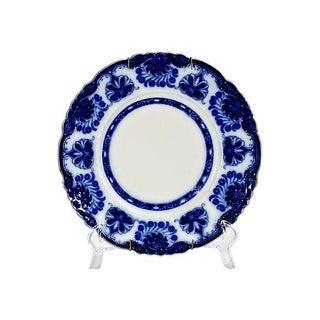 English Floral Flow Blue Plate
