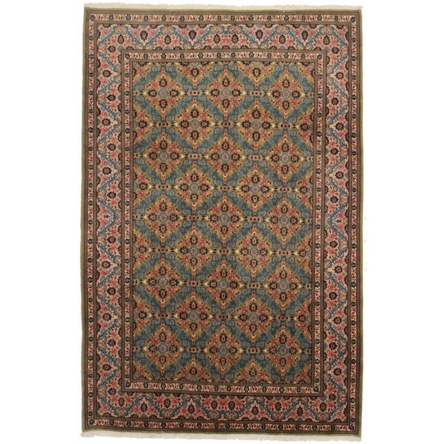 "Asian Style Persian Area Rug - 6'1"" x 10' - Image 1 of 2"