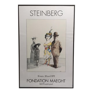 Saul Steinberg Framed Lithographic Print