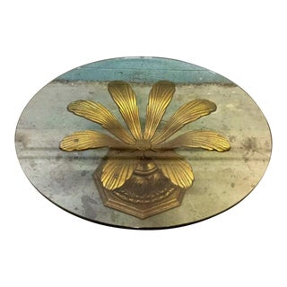 Vintage Metal Gold Gilt Coffee Table