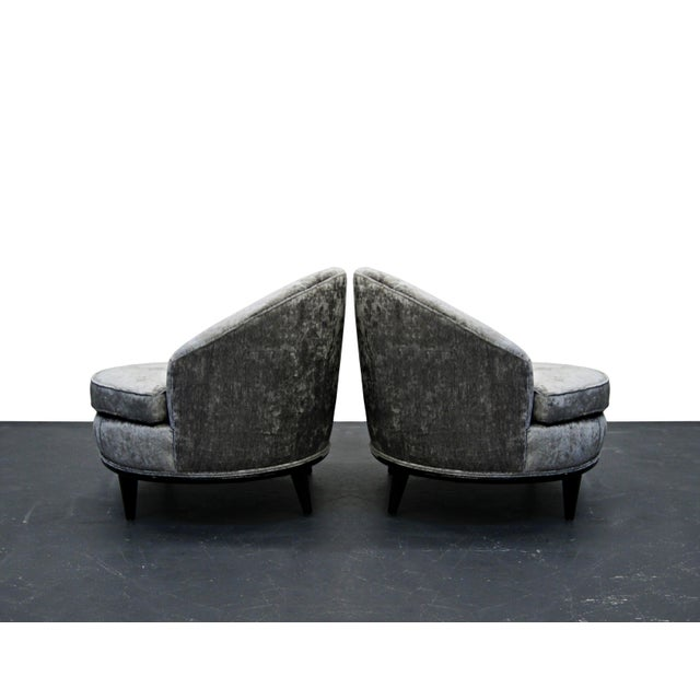 Mid-Century Barrel Back Slipper Chairs - A Pair - Image 3 of 8