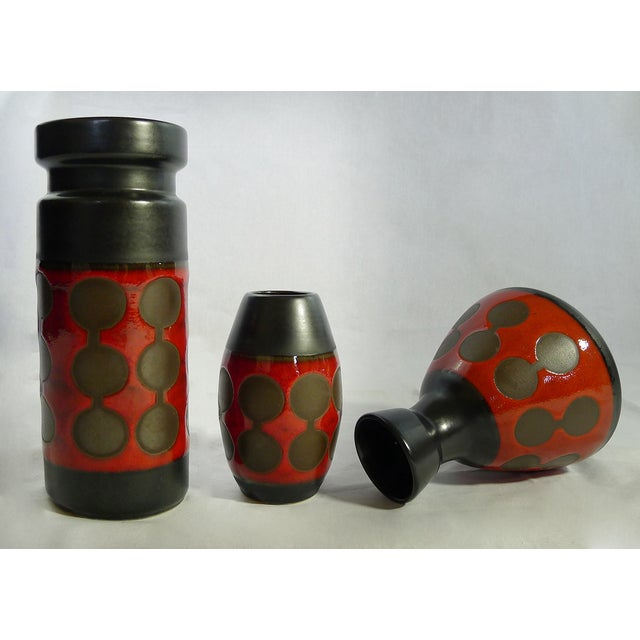 Image of Rare Vintage German Modernist Vases - Set of 3