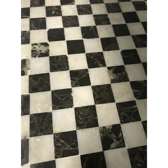Marble Inlay Checkered Desk - Image 4 of 7