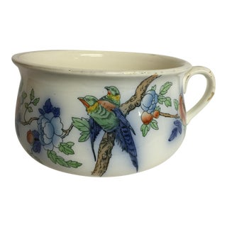 English Devonware Porcelain Chamber Pot