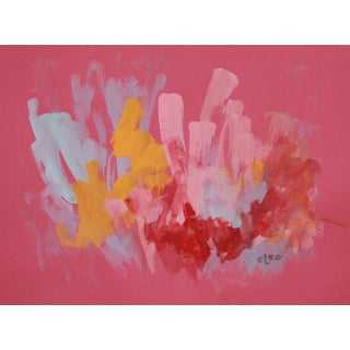 """Raspberry Ice"" Abstract Painting by Cleo"