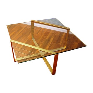 Dia Style Brass & Glass Cocktail Table