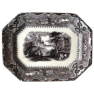 Black & White English Ironstone Platter