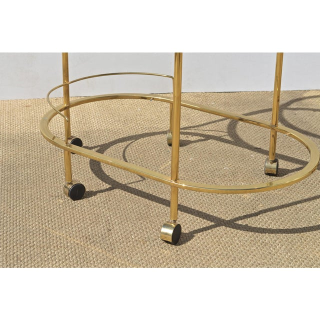 Brass & Glass Bar Cart - Image 9 of 9