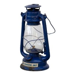 Vintage Blue Camping Kerosene Oil Lantern