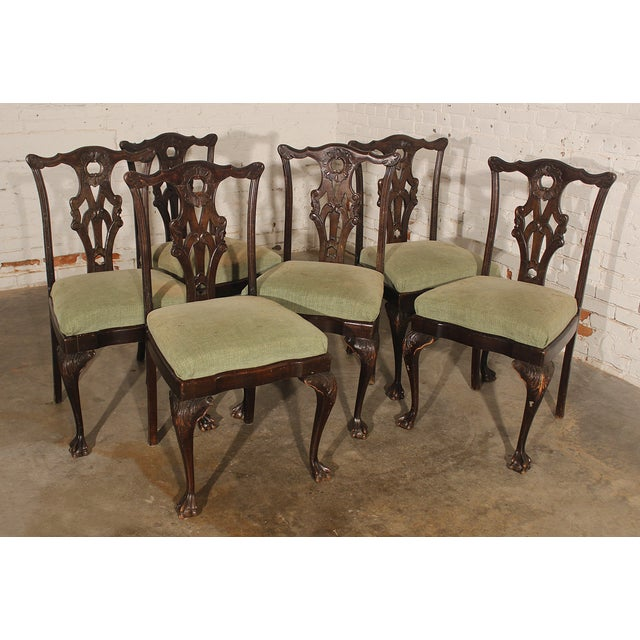 Antique Chinese Chippendale Dining Chairs, 6 - Image 2 of 10 - Antique Chinese Chippendale Dining Chairs, 6 Chairish