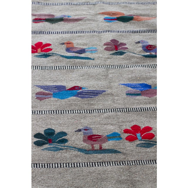 """Mexican Gray Wool Rug - 2'6"""" X 4'11"""" - Image 3 of 7"""