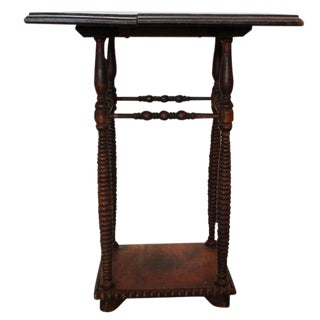 Antique Spindle Leg Side Table