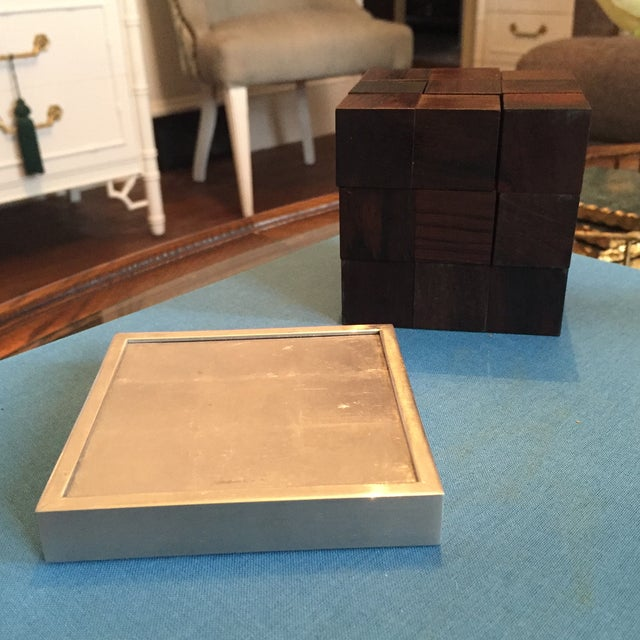 Mid Century Modern Danish Rosewood Teak Parker Brothers Cube Puzzle Game - Image 11 of 11