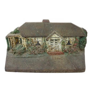 Vintage Judd Painted Cast Iron House Doorstop