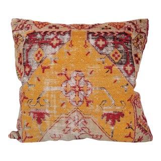 Orange Turkish Textile Pillow