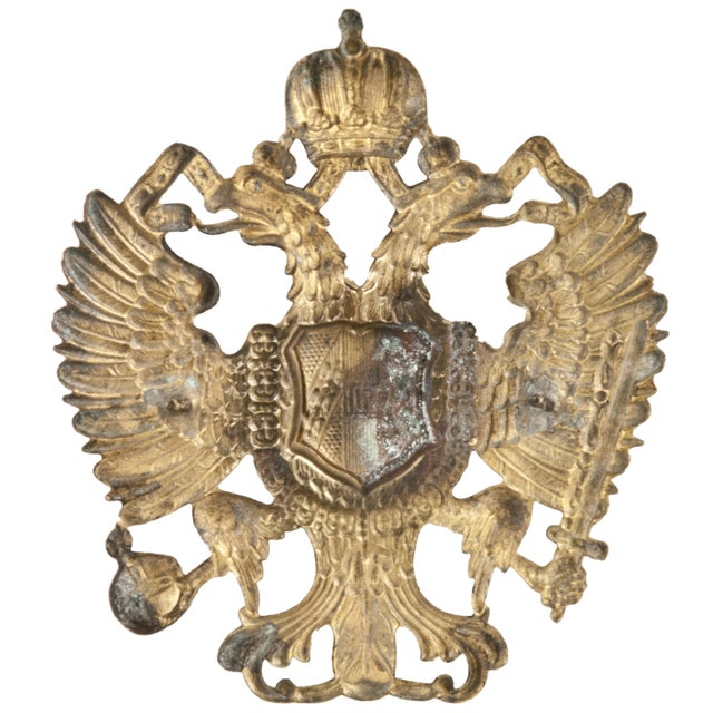 Image of Vintage French Brass Military Badge