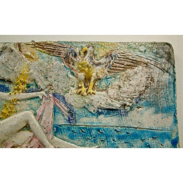 Ugo Lucerni Majolica Wall Relief - Image 4 of 8