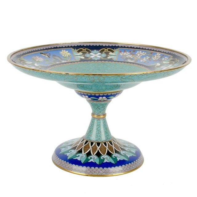 Vintage Cloisonne Pedestal Compote - Image 2 of 7