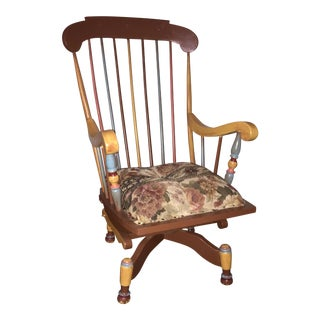 Antique Restored Swivel Rocker