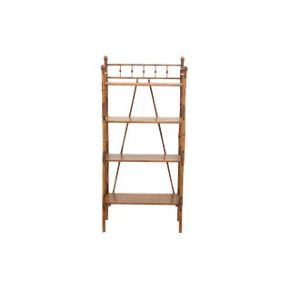 Four Tier Bamboo Etagere