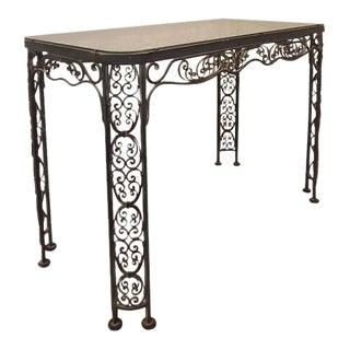 Lee L. Woodard & Sons Mid-Century Wrought Iron Console