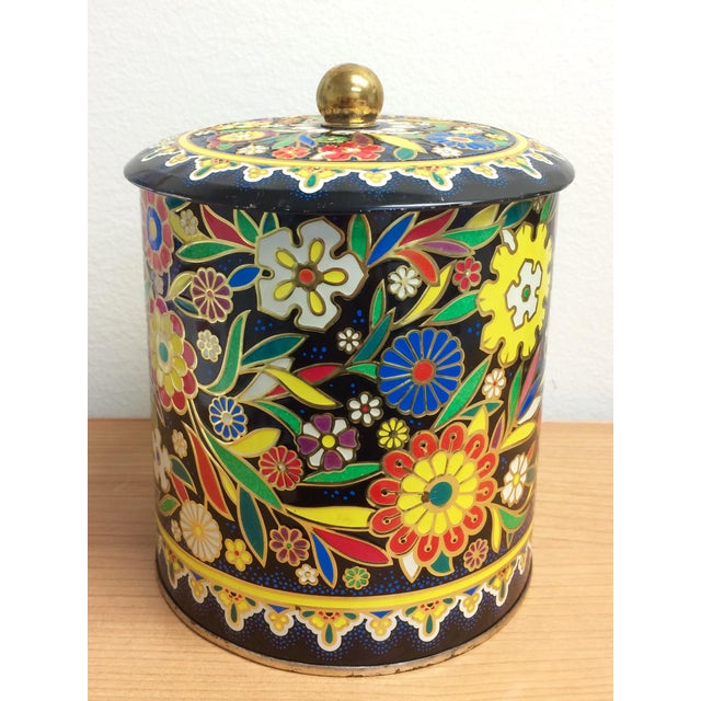 Boho English Colorful Tin Container - Image 2 of 6