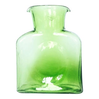 Mid Century Green Glass Pitcher by Blenko