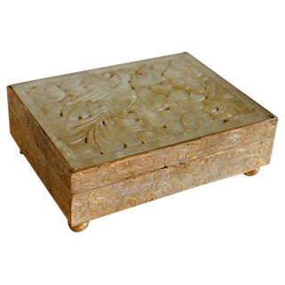 Hand Carved Jade Box