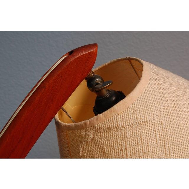Vintage Danish Modern Teak Bowed Floor Lamp - Image 9 of 10