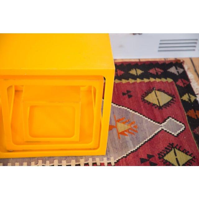 Retro Tangerine Nesting Cubes- Set of 3 - Image 4 of 6