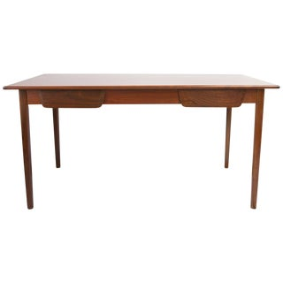 Mid Century 2 Drawer Walnut Desk