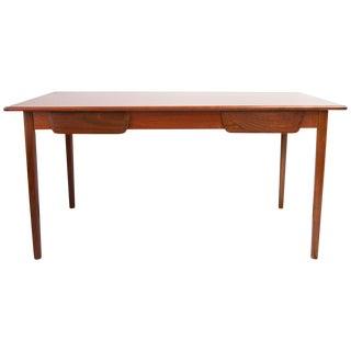 Mid Century 2 Drawer Walnut Desk